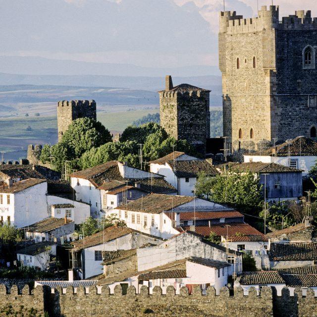 DF3RH7 Fortified city of Braganca (XII th century). Tras-os-Montes Province. Porto e Norte region. Portugal